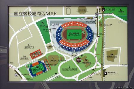 National Stadium/Lageplan/Map (国立競技場)